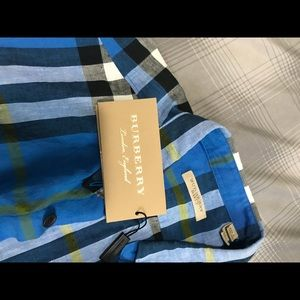 Youth's Burberry Button up Shirt